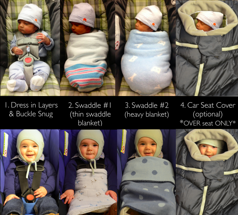 Winter Layers in the car seat @ mapsgirl.ca