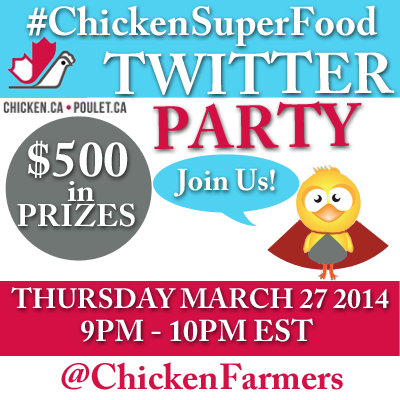 #ChickenSuperFood Twitter Party