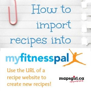 MyFitnessPal Importing Recipes