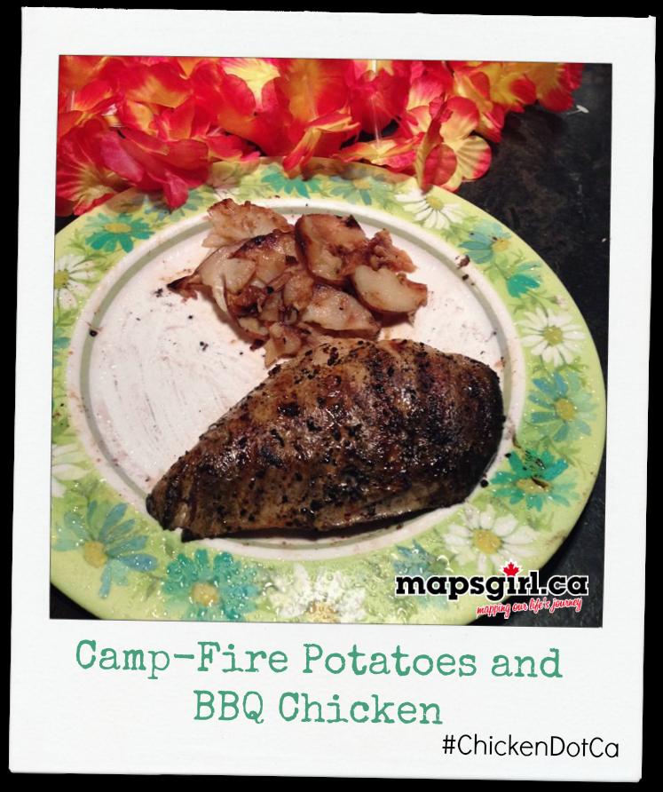 Camp-fire Potatoes and BBQ Chicken #ChickenDotCA