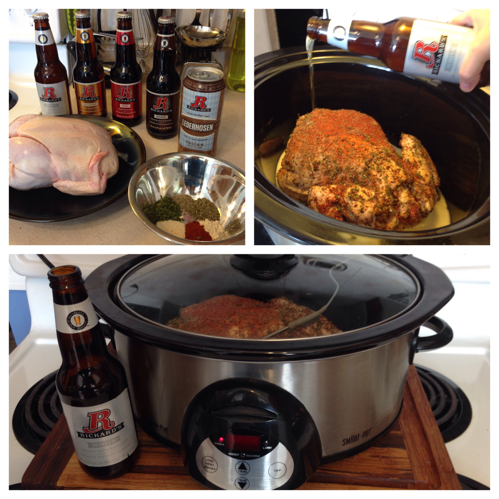Slow cooker beer can chicken #chickendotca