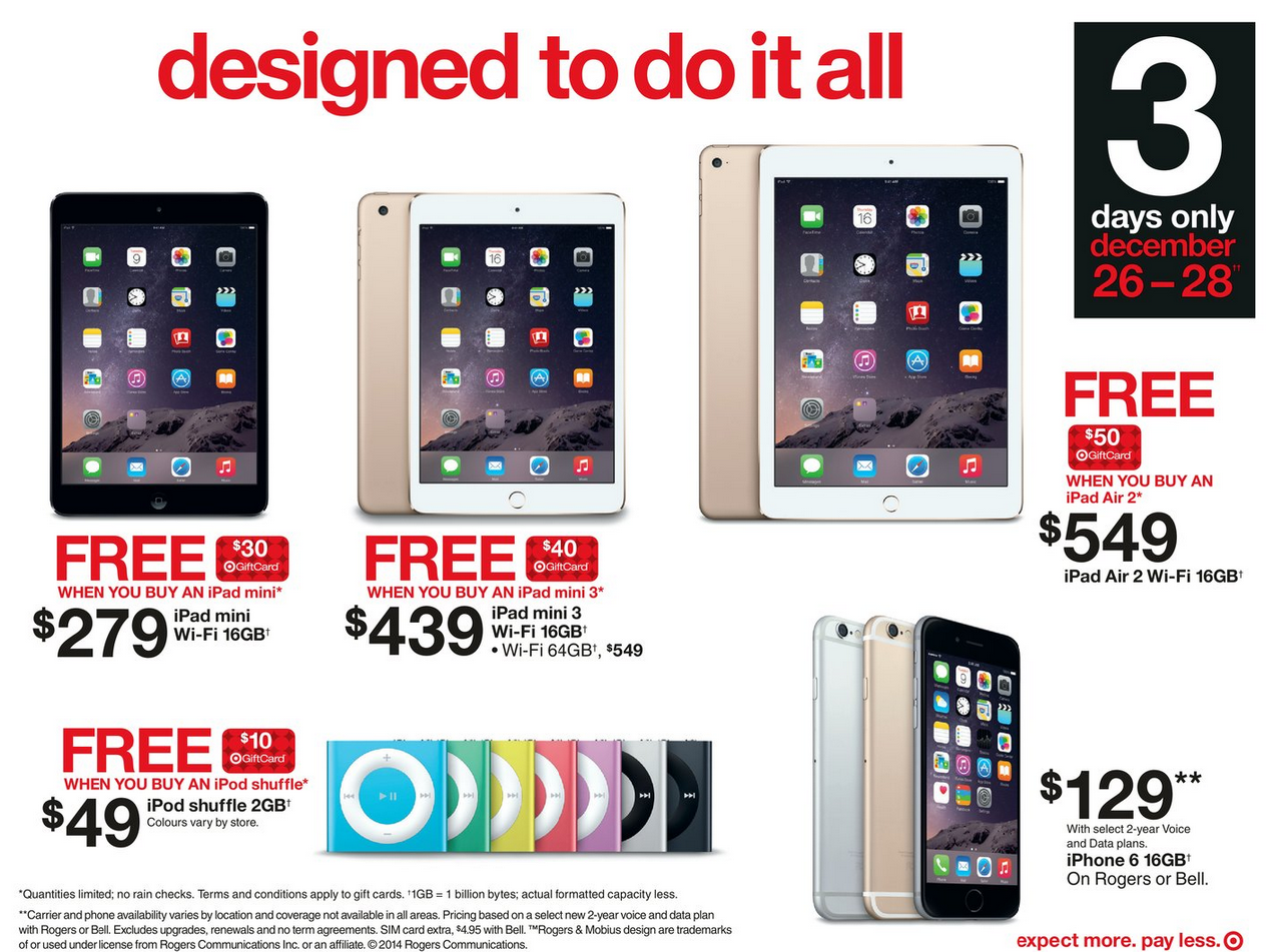 Target Canada Boxing Day Apple
