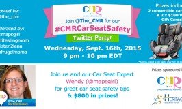 The CMR Car Seat Safety Twitter Party – September 16 @ 9pm #CMRCarSeatSafety